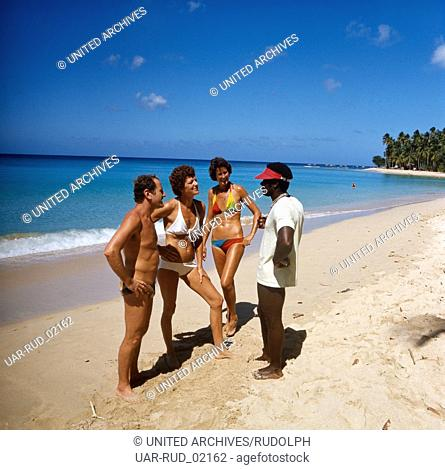 Reise nach Barbados, Karibik 1970er Jahre. Journey to Barbados, Caribbean 1970s