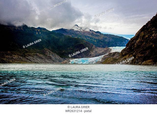 Mendenhall Glacier in Juneau, Alaska, United States of America, North America