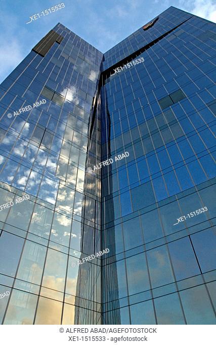 Fenosa Gas Natural building, 2006, arq Miralles Tagliabue, Barcelona, Catalonia, Spain