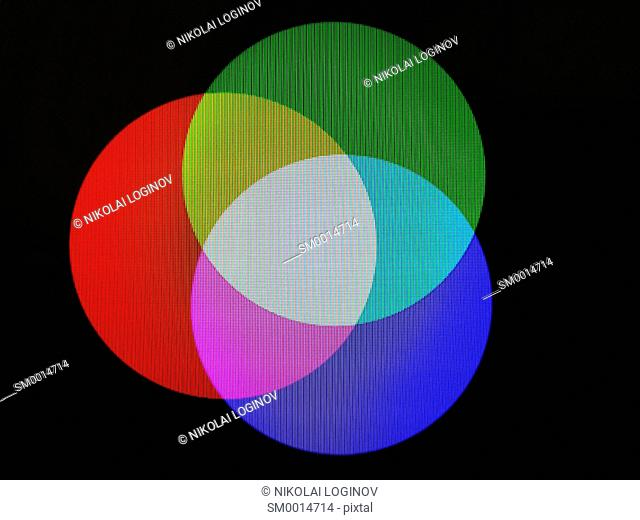 RGB three colored circles illustration background