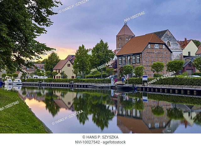 Müritz-Elde waterway in Plau am See, Mecklenburg Western Pomerania, Germany
