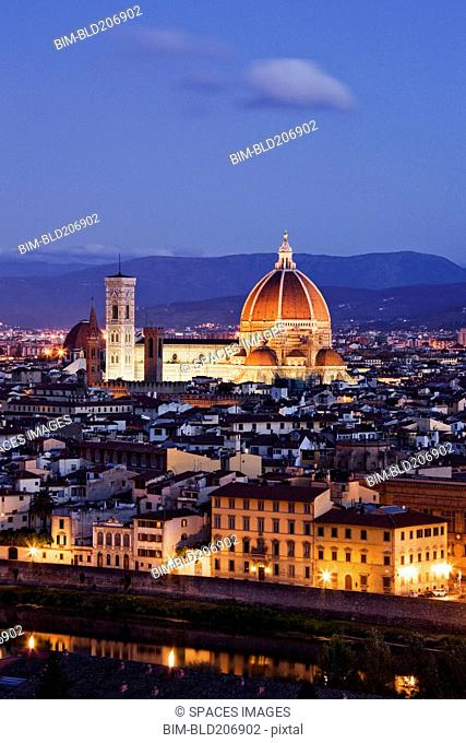 Skyline of Florence from the Piazza Michelangelo at Dawn