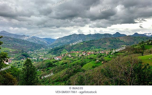 Canzana village, Laviana municipality, Asturias, Spain