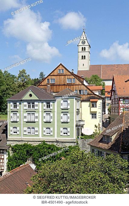 Oberstadt, Meersburg, Lake Constance, Baden-Württemberg, Germany