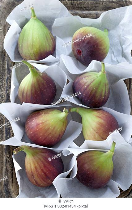Fresh Figs On Parchment Paper