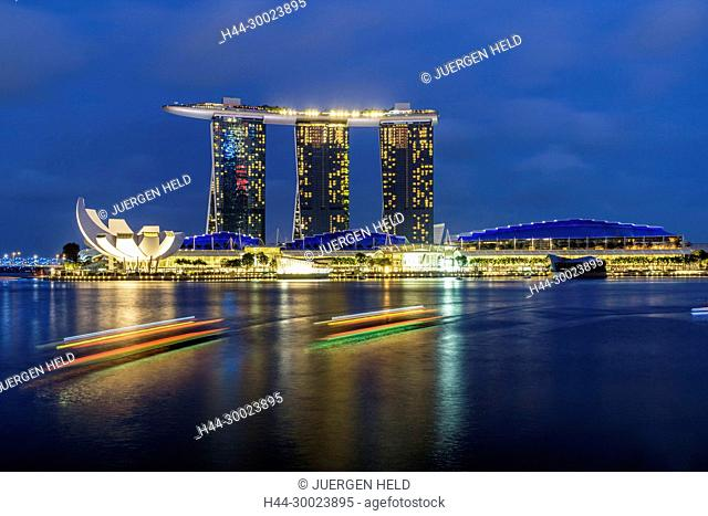 Marina Bay, Merlion, Marina Bay Sands Hotel, Singapore, Singapur, Southeast Asia