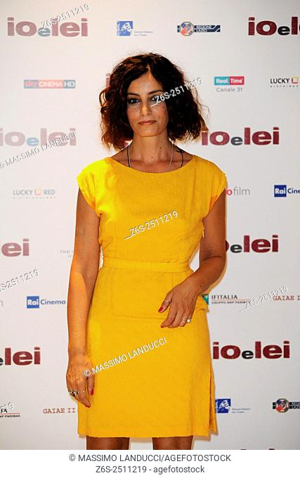 Alessia Barela; barela ; actress; celebrities; 2015; rome; italy; event; photocall ; io e lei