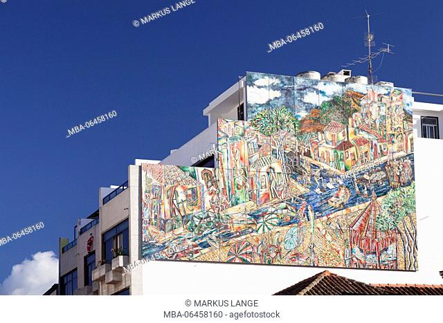Wall picture in the Old Town of Los Llanos de Adriane, La Palma, Canary islands, Spain