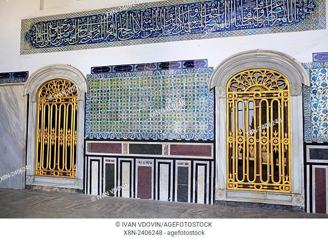 Topkapi Palace, Ottoman sultans palace, Istanbul, Turkey