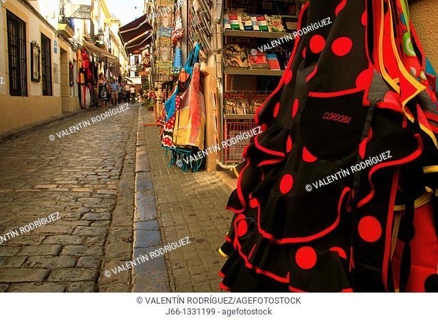 Souvenirs shop in the Jewish quarter, Cordoba, Andalusia, Spain