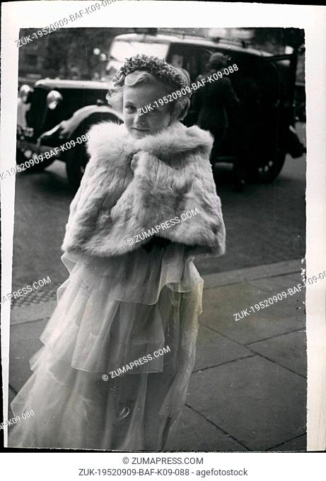 Sep. 09, 1952 - Citty Wedding: The Wedding took place today.at St. Bartholomew's -the-Great, Smithfield, betweenMr. Richard Walker, 25-year old son of Mr