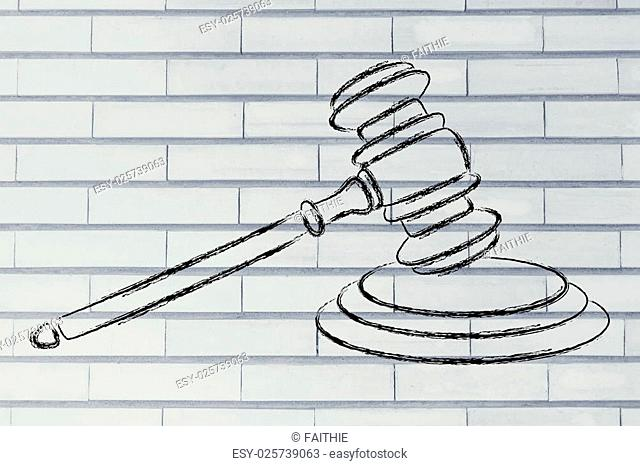 judges gavel design, concept of respecting the law