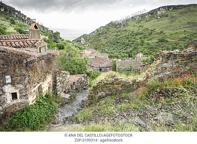 Patones de Arriba walled village Madrid province. Spain