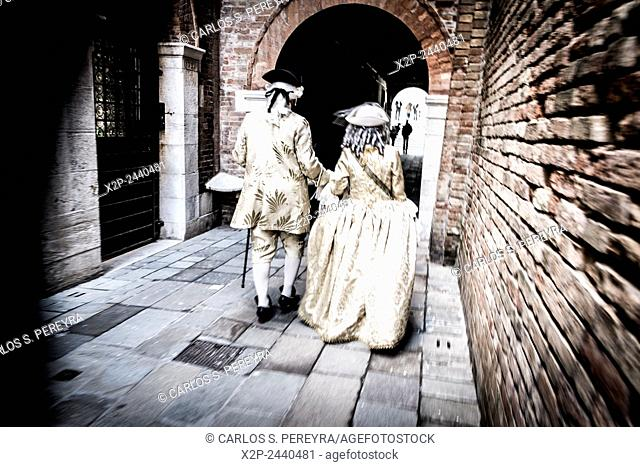 Traditional Carnival of Venice in Italy, Europe