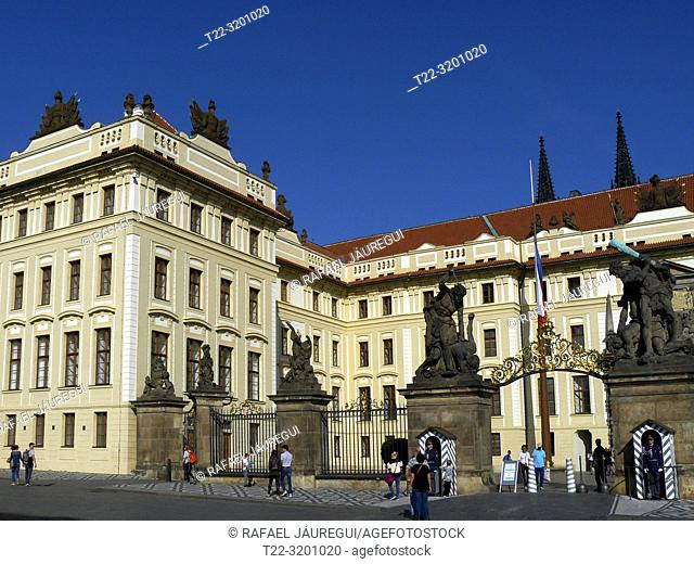 Prague (Czech Republic). Saint Matthias Gate in the Royal Palace of Prague Castle