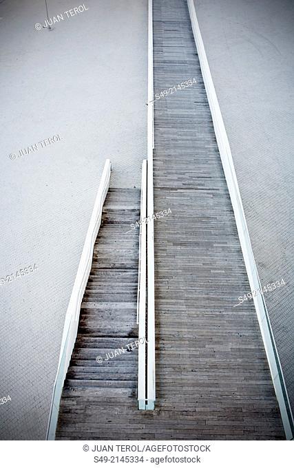 Veles e Vents bridge, Architecture by David Chipperfield, Port Americas Cup, harbor, Valencia, Spain