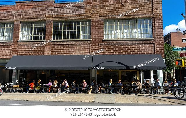 New York City, USA, Street Scenes, Cafe Terrace in Manhattan, Meat packing District,