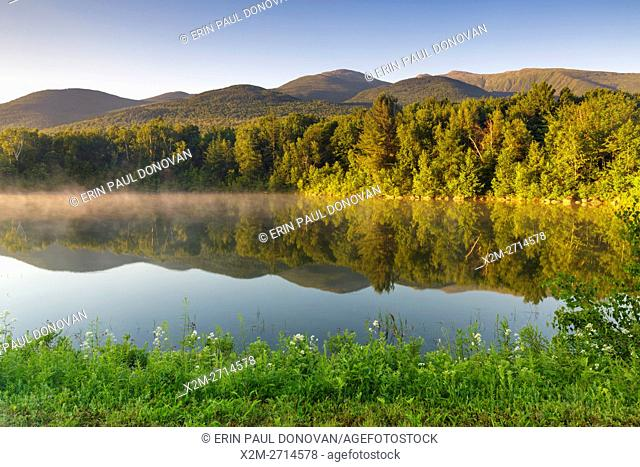 Durand Lake in Randolph, New Hampshire USA at sunrise during the summer months