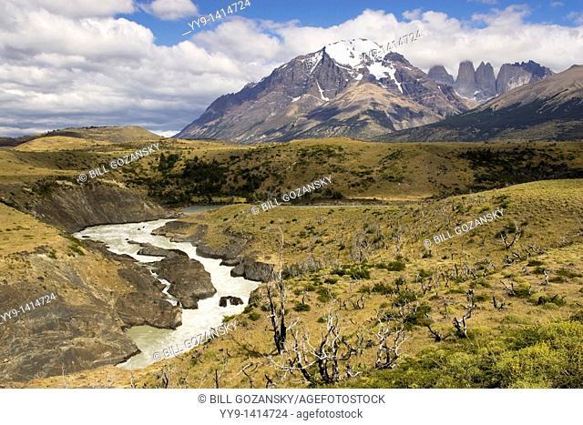 Torres Del Paine National Park landscape - Patagonia region, Chile