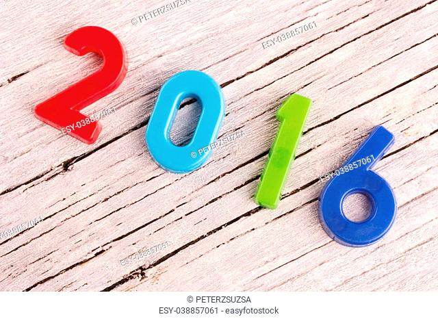 Happy new year concept, 2016 from colorful letters
