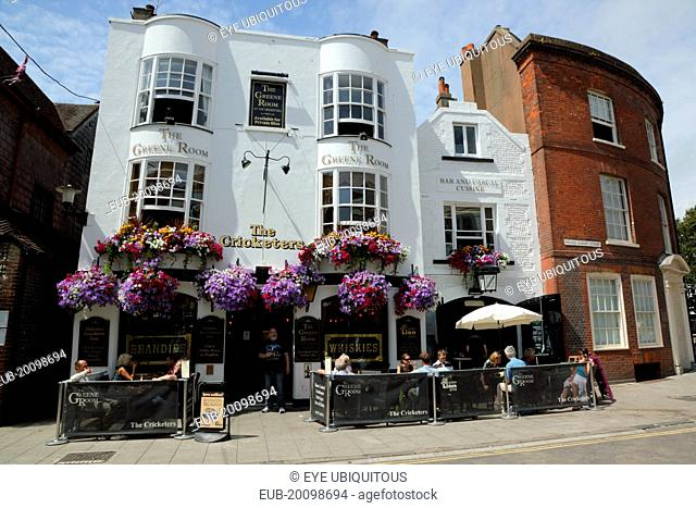 Black Lion Street, Exterior of the Cricketers Pub