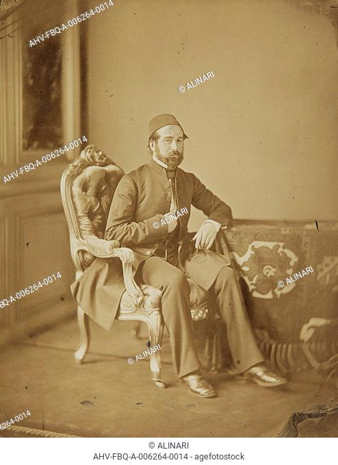 Portrait of Mehemed-Djemil, the ambassador of the Ottoman Empire, at the Congress of Paris, shot 1856 by Mayer & Pierson