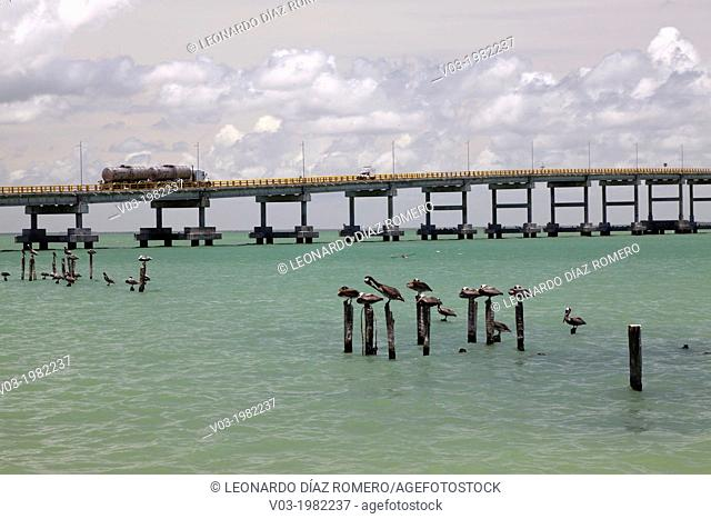 View to the bridge between Ciudad del Carmen and Zacatal, at Campeche, Mexico