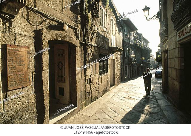 Berbes quarter, Vigo. Pontevedra province, Galicia, Spain