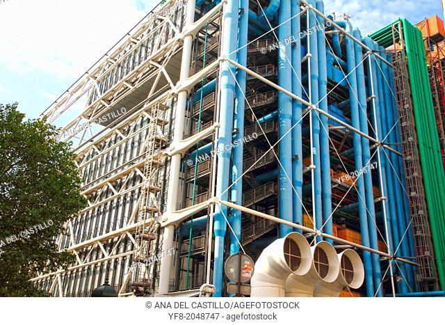 The Pompidou Centre, contemporary art museum in Paris, France