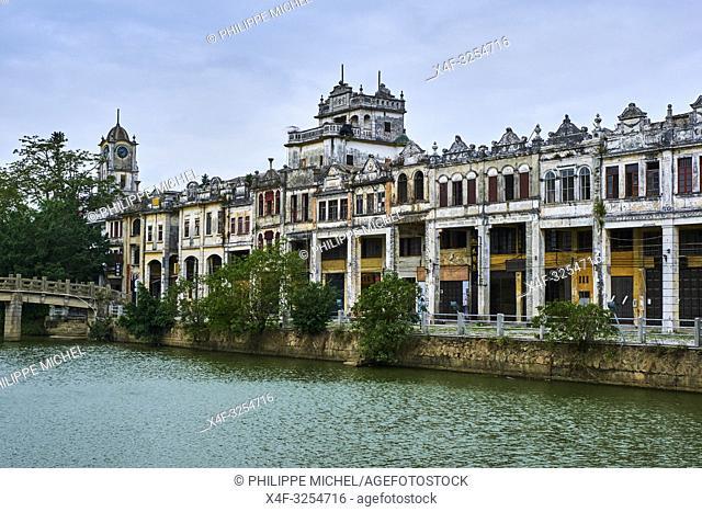 Chine, Province de Guangdong, Kaiping, patrimoine mondial de l'Unesco, village de Chikan / China, Guangdong, Kaiping, Unesco World Heritage, Chikan village