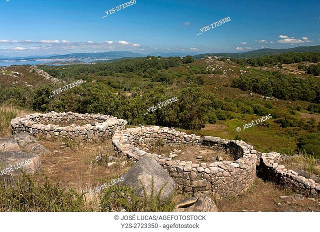 "The Celtic settlement of """"Castro del Monte do Facho"""" - first century BC, Donon, Pontevedra province, Region of Galicia, Spain, Europe"