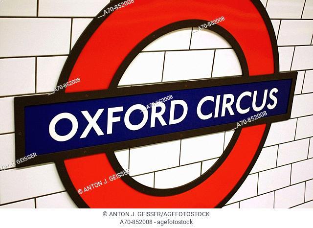 Oxford Circus subway station. London. England