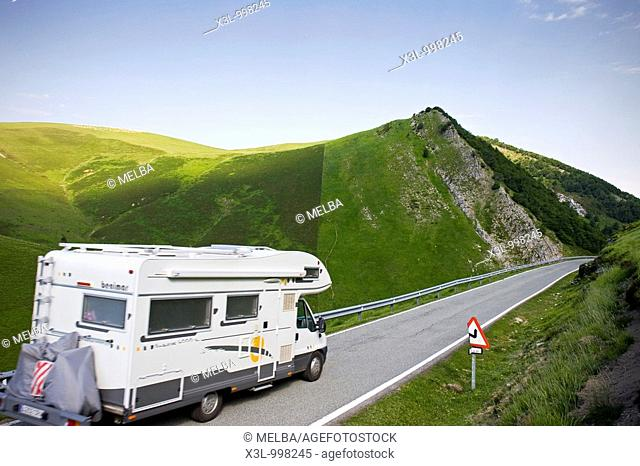 Motorhome  Abodi Mountains  Navarra  Spain