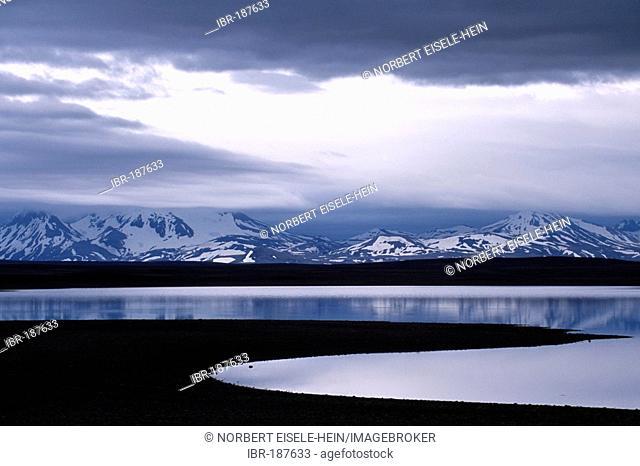 Poerisvatn, glacier lake, Hveravellir, Iceland