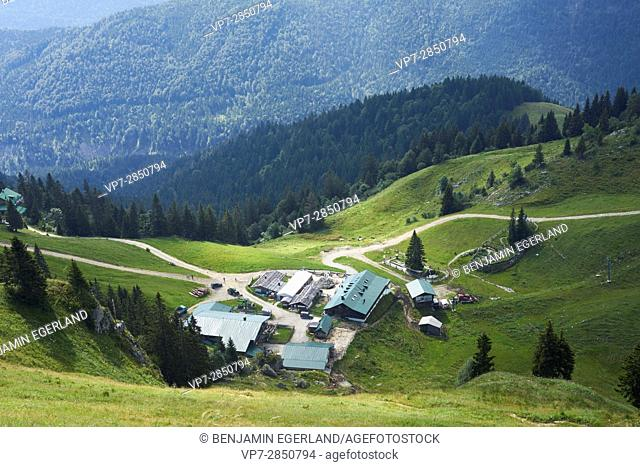 Stiealm at mountain Brauneck in the Bavarian Alps, Germany