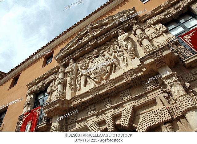 Palacio de los Condes de Cirat. Siglo XVI. Gateway. City Council. Almansa. Albacete. Castilla La Mancha. Spain. Europe