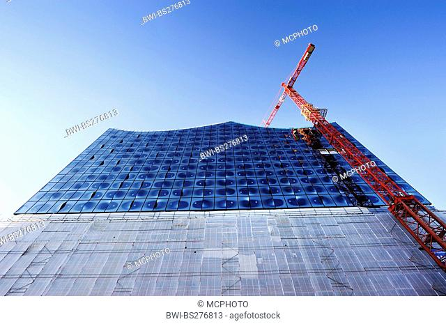 glass cladding of Elbphilharmonie Hamburg, Germany, Hamburg