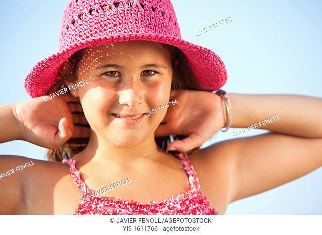portrait of girl on the beach