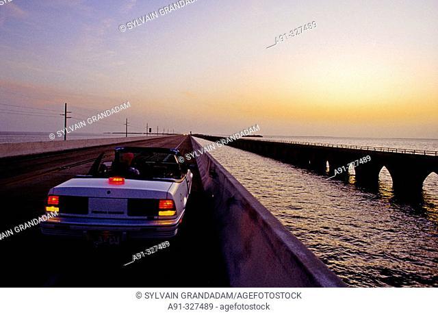 Florida Keys, islets linked by road US1 and numerous bridges. Florida. USA