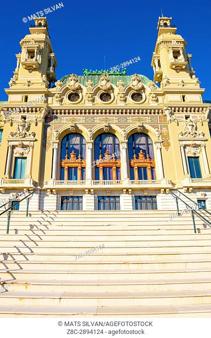 Grand Casino de Monte Carlo and Staircase in Provence-Alpes-Côte d'Azur, Monaco