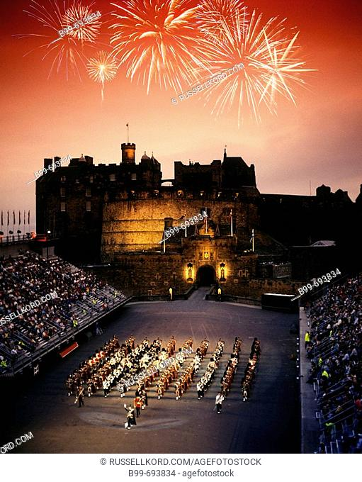 Military Tattoo. Edinburgh Castle. Scotland. Uk