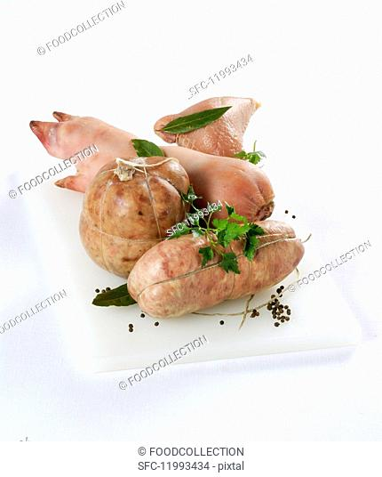 Cotechino e zampone (sausage and stuffed pig's trotter, Italy)