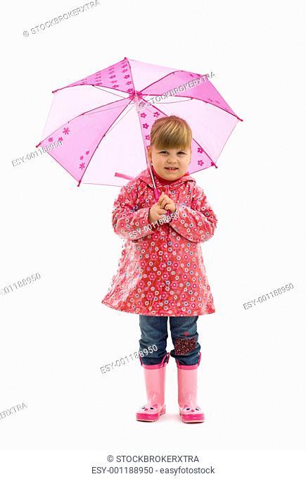 Small girl with umbrella