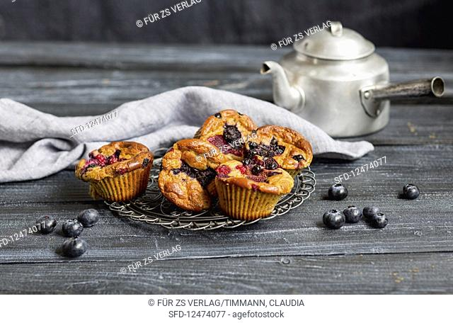 Fruits of the forest quark muffins (low GL)