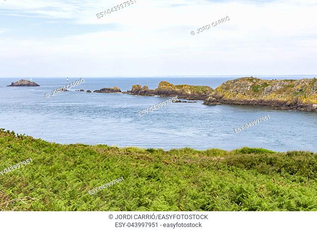 Cancale, Brittany, France: View of Island of Landes from Cape Grouin