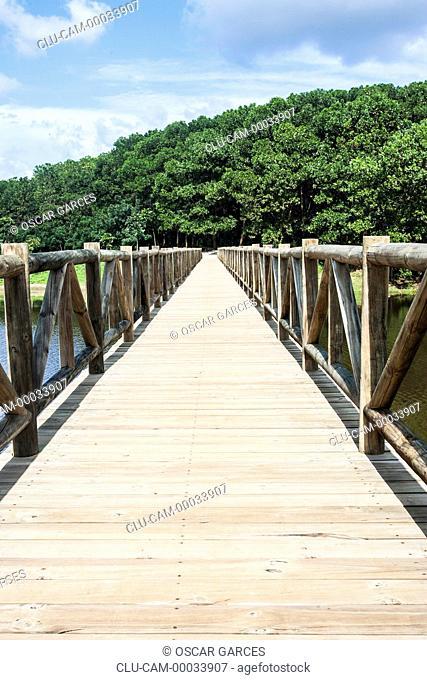 Park Montelibano lake, Alto of San Jorge, Cordoba, Colombia