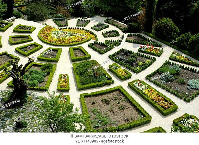 Public gardens in La Garde-Adhemar, Drome, France