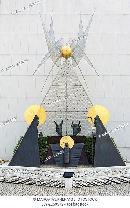 Modern manger scene at Pilgrimage site Fatima, Ourem, district Santarem, Portugal, Europe