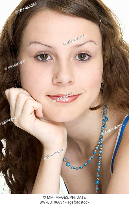 An attractive young woman smiles