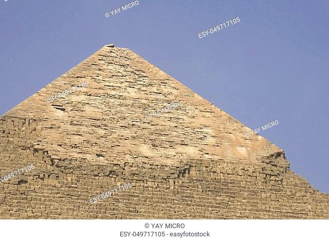 Pyramids of giza. Great pyramids of Egypt. The seventh wonder of the world. Ancient megaliths